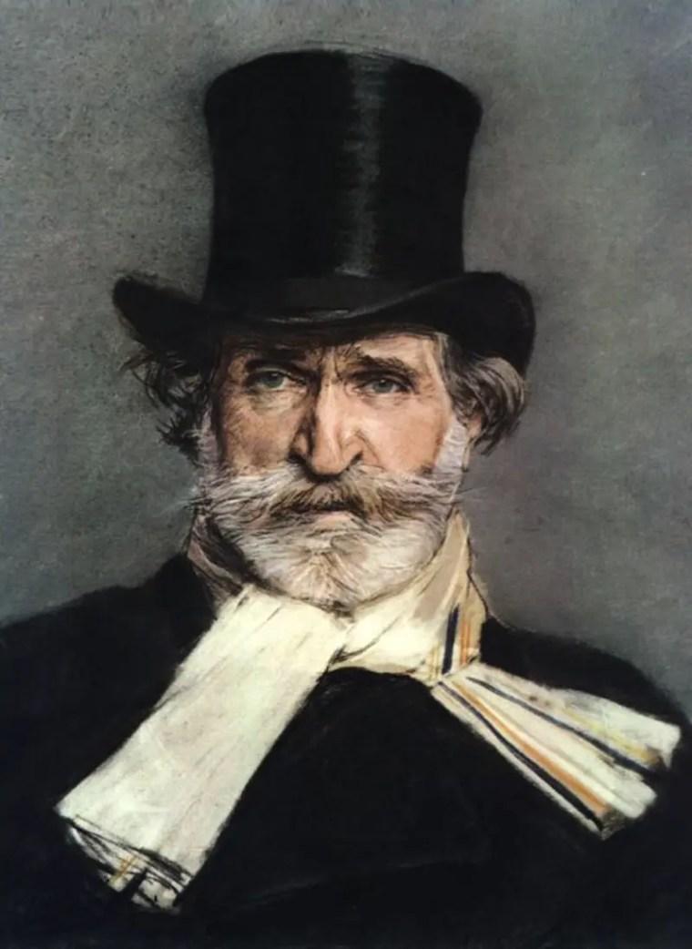 Giovanni Boldini, Ritratto di Giuseppe Verdi (1886); pastello su cartone, Galleria Nazionale d'Arte Moderna, Roma