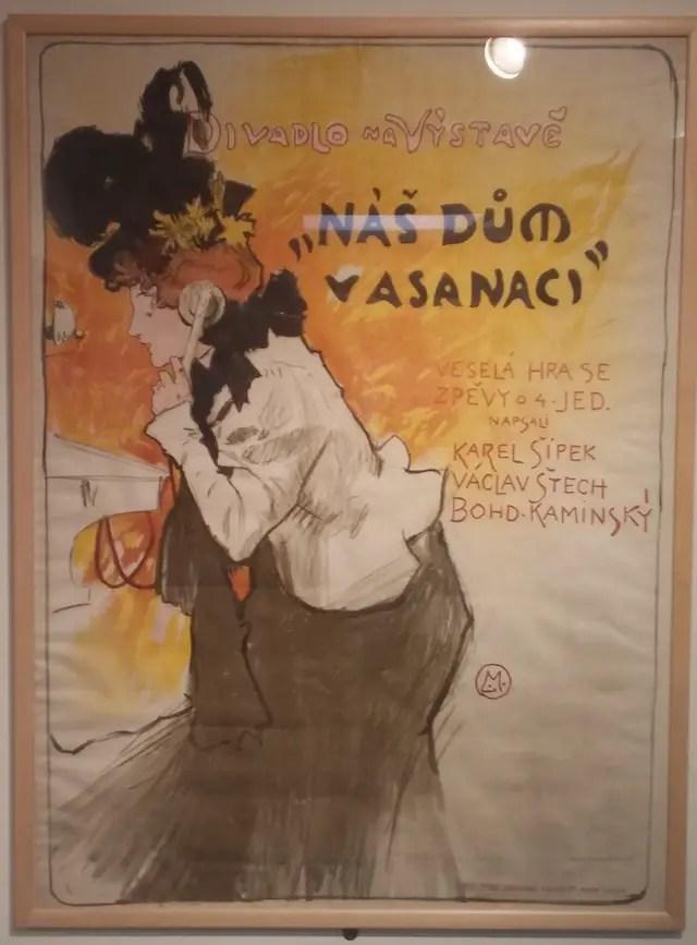 """Ludek Marold, """"Teatro dell'Esposizione, La nostra casa in risanamento"""", 1898, litografia a colori su carta"""