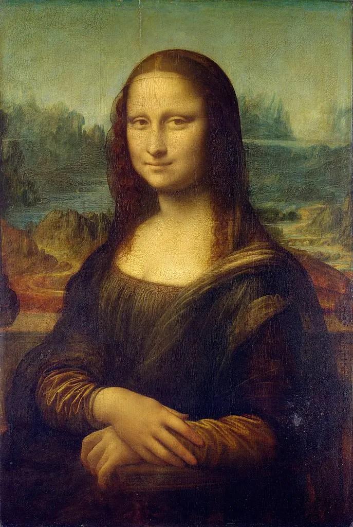 Leonardo da Vinci, Gioconda (1503–1506 circa), 77x53 cm, olio su tavola, Musée du Louvre, Parigi