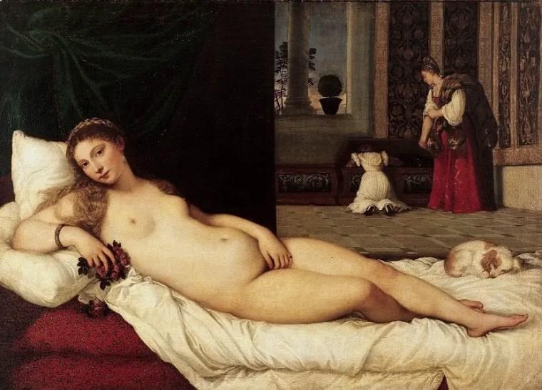 Tiziano, Venere di Urbino, 1538, Galleria degli Uffizi, Firenze