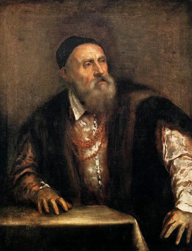 Tiziano Vecellio, Autoritratto, 1562