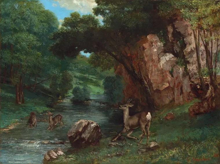 Gustave_Courbet_caprioli-alla-fonte_mostra_Ferrara_due-minuti-di-arte