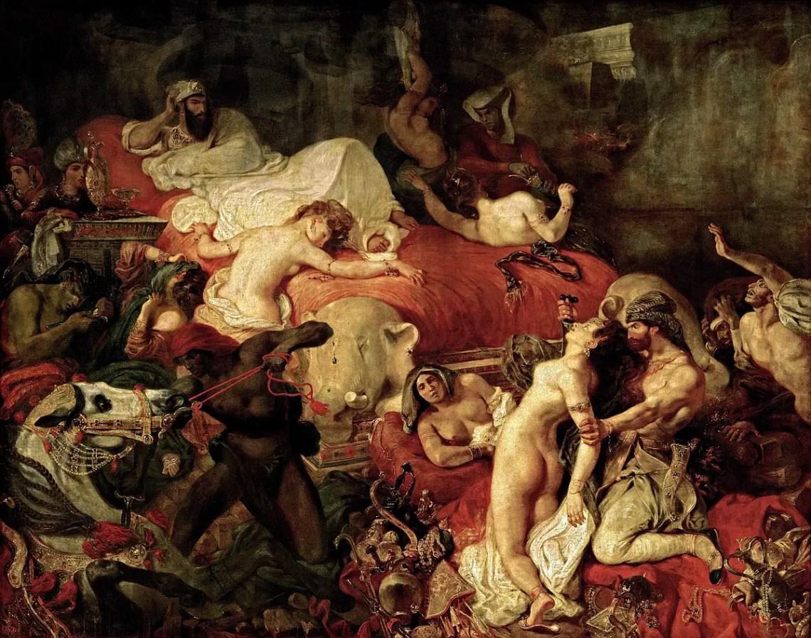 """Dipinto di Delacroix dal titolo """"Morte di Sardanapalo"""""""
