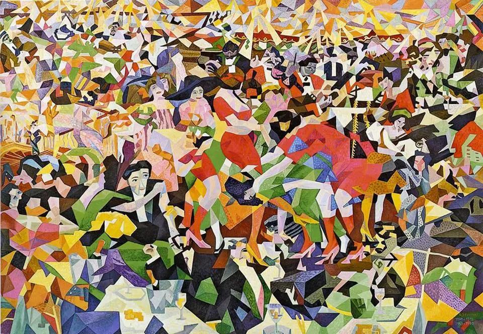 Gino Severini, La danza del pan-pan al Monico, 1911