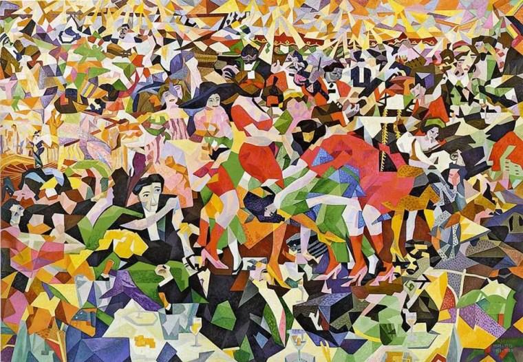 """Gino Severini - """"La danza del pan-pan al Monico"""", 1911"""