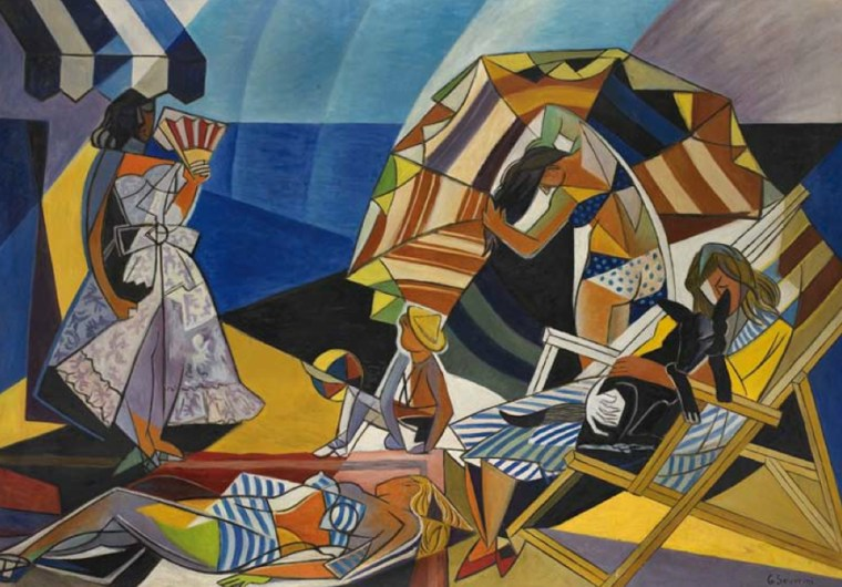 Gino Severini, On the Beach, 1948