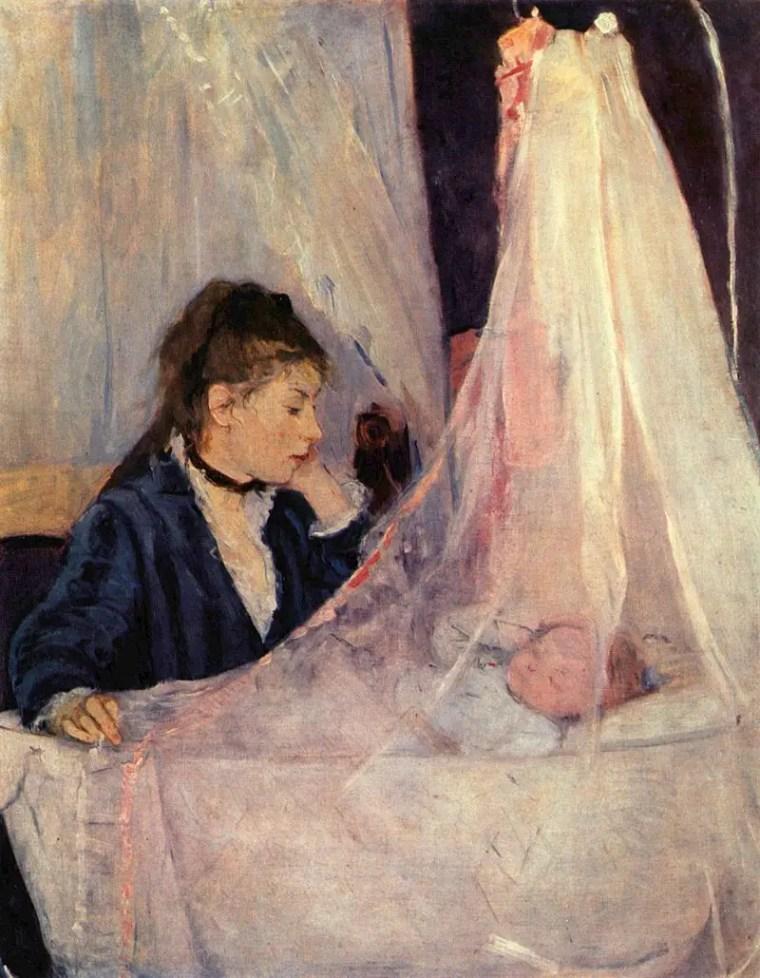 Berthe Morisot, La culla, 1872, Musée d'Orsay, Parigi
