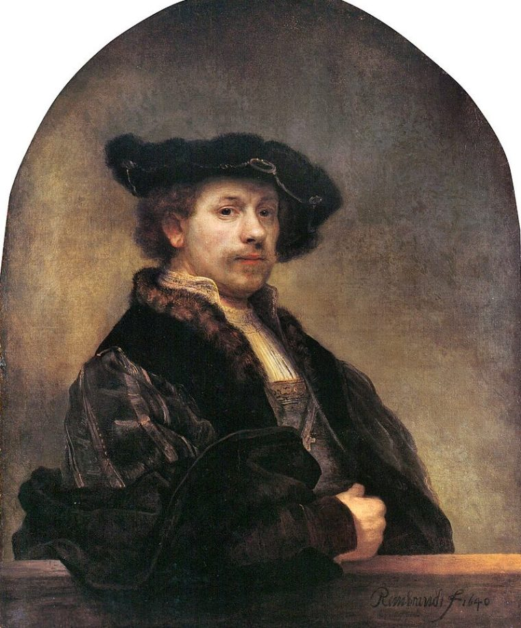 Rembrandt, autoritratto, 1640, National Portrait Gallery, Londra