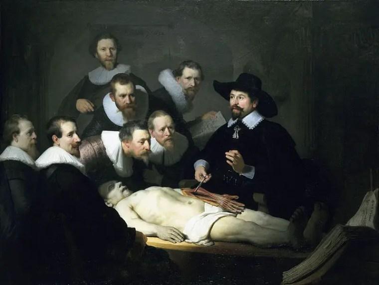 Rembrandt, Lezione di anatomia del dottor Tulp, 1632, Mauritshuis, L'Aia