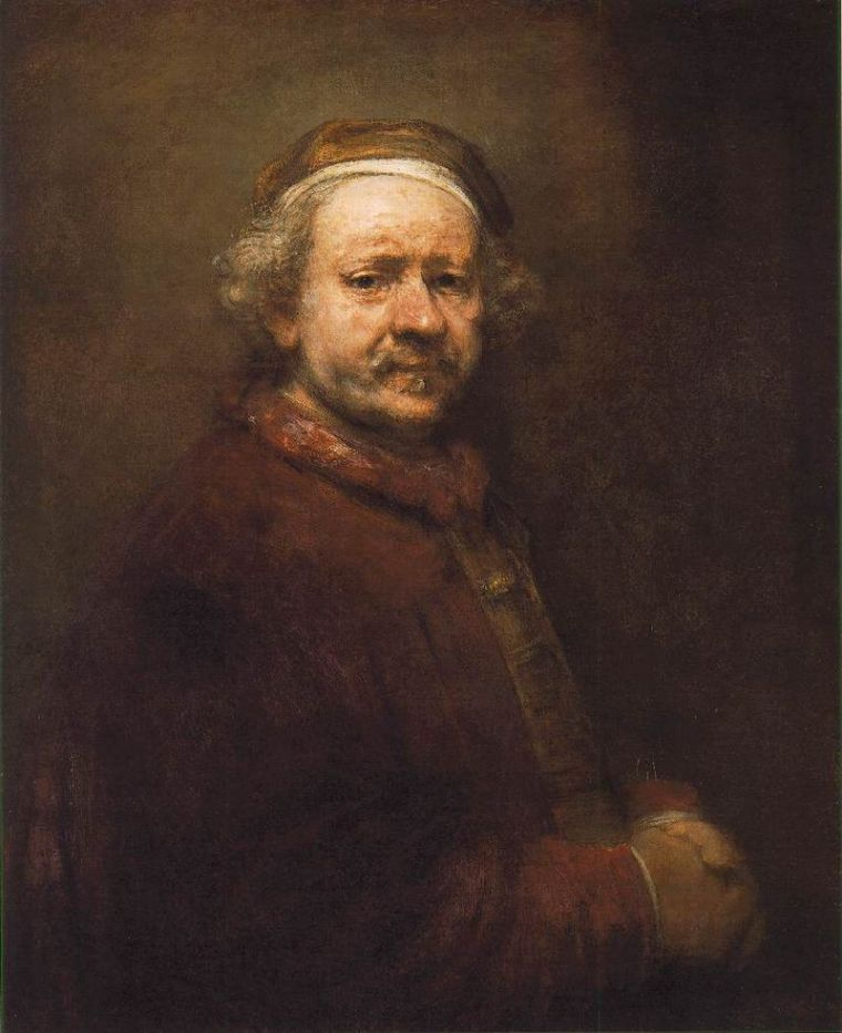 Rembrandt, Autoritratto all'età di 63 anni, 1669, National Gallery, Londra