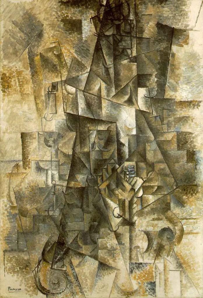 """Pablo Picasso, Suonatore di fisarmonica"""" 1911, Solomon R. Guggenheim Museum, New York"""