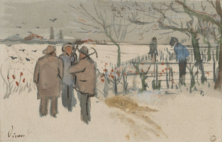 Vincent van Gogh, Minatori nella neve, 1882, Van Gogh Museum, Amsterdam, Nederland