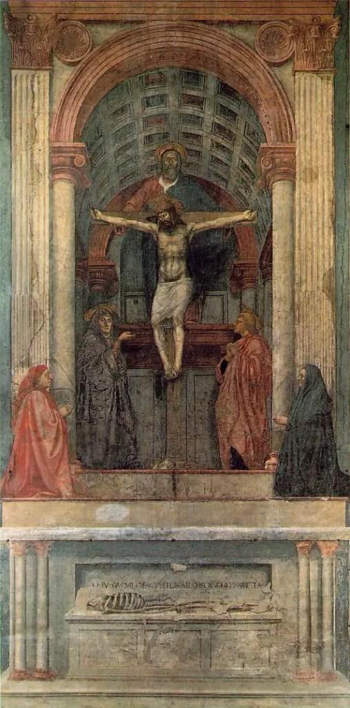 Masaccio, Trinità (1424-1427 circa), Santa Maria Novella, Firenze