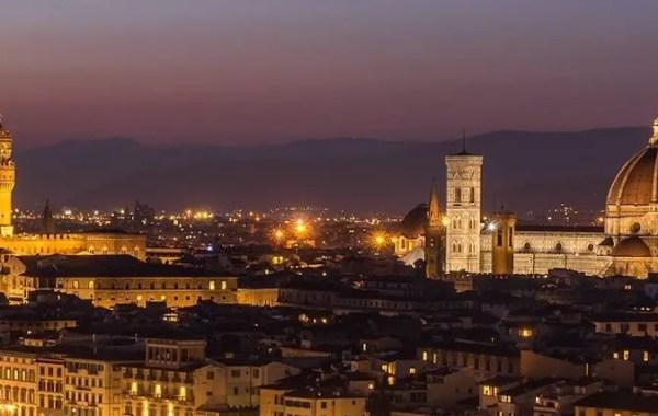 Firenze, panorama con cupola del Brunelleschi