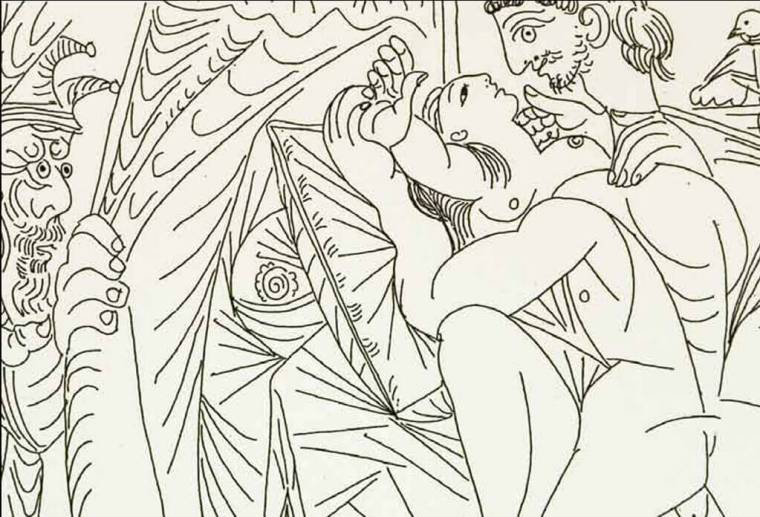 PIcasso, Raffaello e la Fornarina, 1968