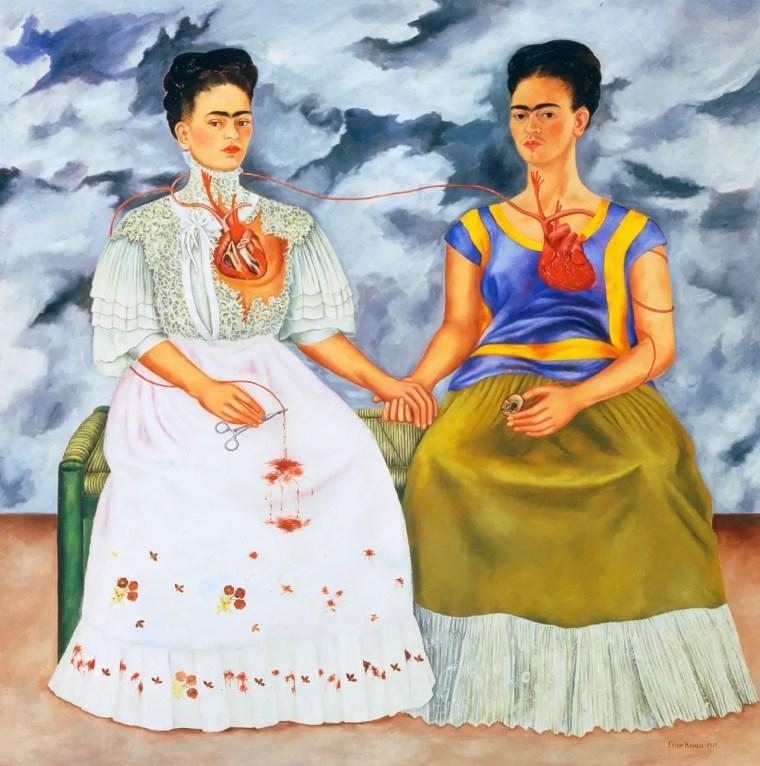 Frida Kahlo, Le due Frida, 1939, Museo de Arte Moderno, Città del Messico