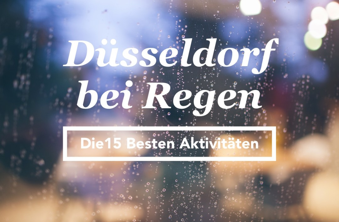 Düsseldorf bei Regen