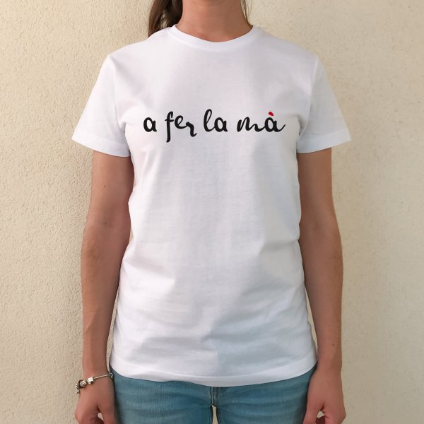 camiseta chica a fer la mà