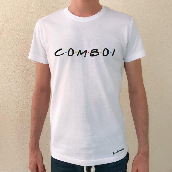 camiseta blanca chico comboi