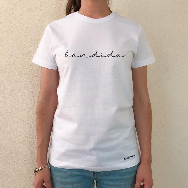camiseta blanca chica bandida