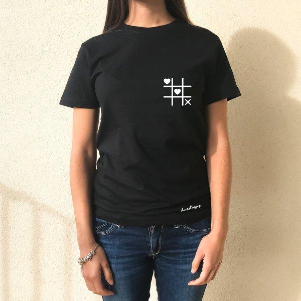 camiseta no vull romanços negra chica