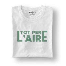 camiseta tot per l'aire blanca