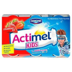 Actimel for Kids Strawberry - Waitrose