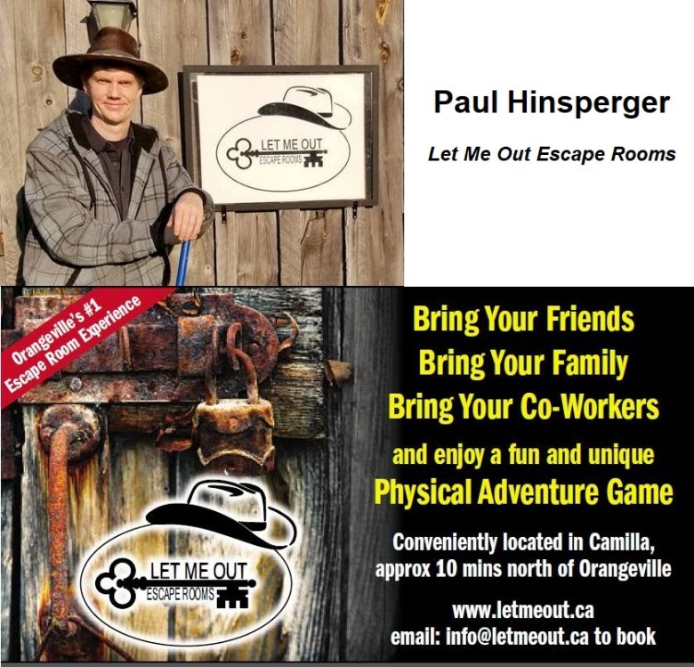 A picture of the owner of Let Me Out Escape Rooms, Paul Hinsperger.