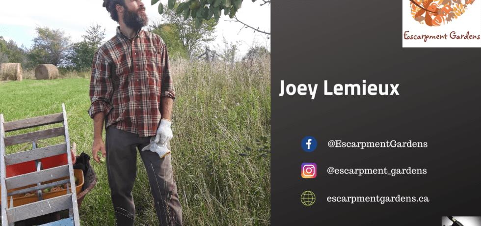 Joey Lemieux of Escarpment Gardens