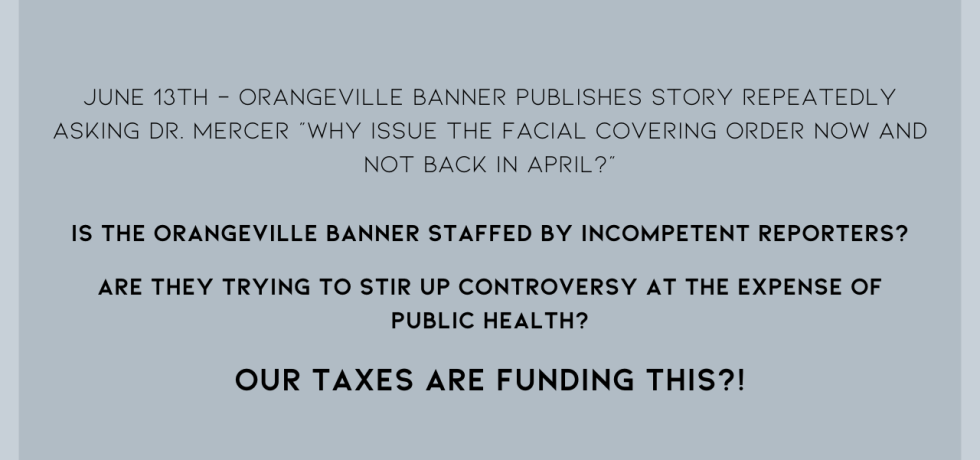 Orangeville Banner Endangering Public Health?