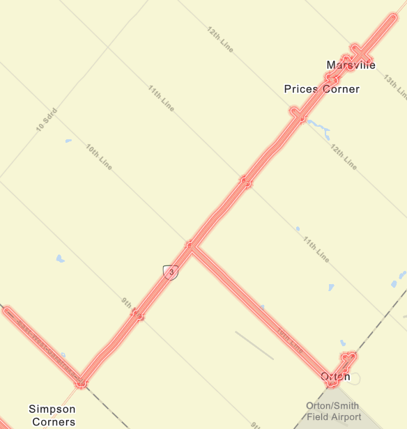 Eventual Rogers Communications Service Area in Dufferin Resulting from Swift Project - Source: SWIFT