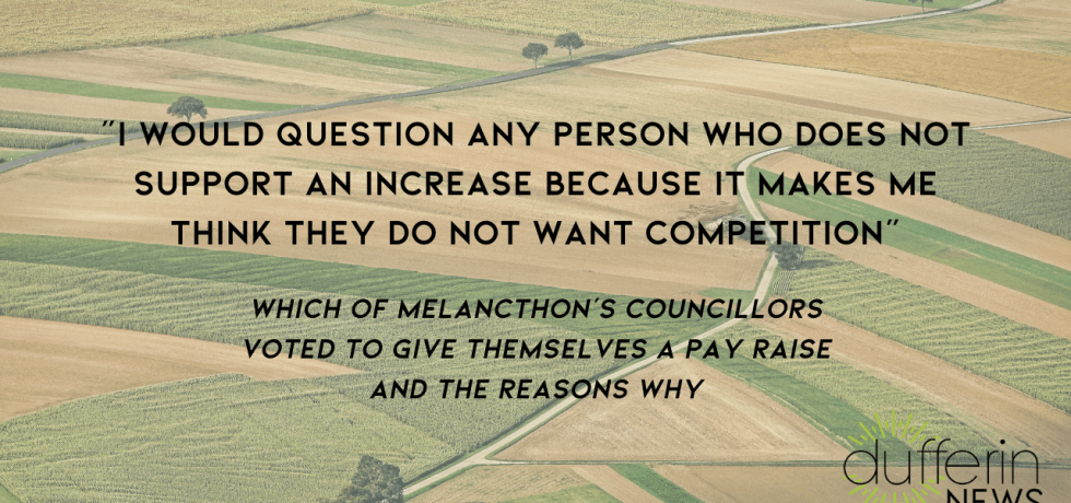 Melancthon council gets a pay raise