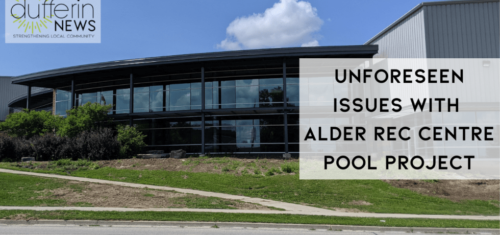 Unforeseen Issues with Alder Rec Centre Pool Project