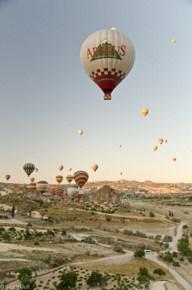 Hot air ballooning, Cappadocia, Turkey