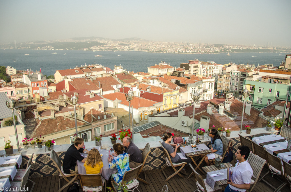 Rooftop bar Istanbul  Duffs Suitcase