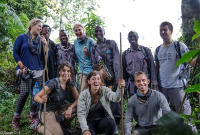 Our mountain gorilla tracking team, guides and porters