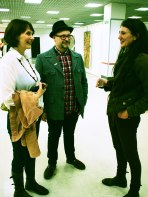 Curator Alan Raw with Lou and Sarah