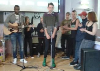 Adam on the mic