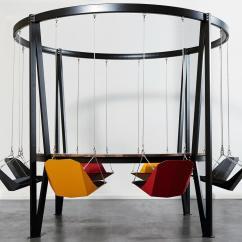 Swing Chair Dining Table 8 Patio Set King Arthur Seat Carousel 04