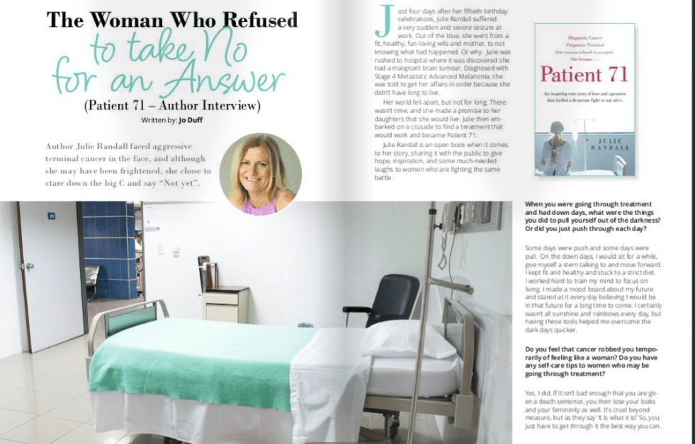 interview with Julie Randall Patient 71 magazine magazine