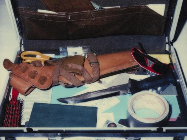 The Snapshot Killer by Duncan McNab. A photo of Christopher Wilders Kill Kit found in his car the day he was shot.