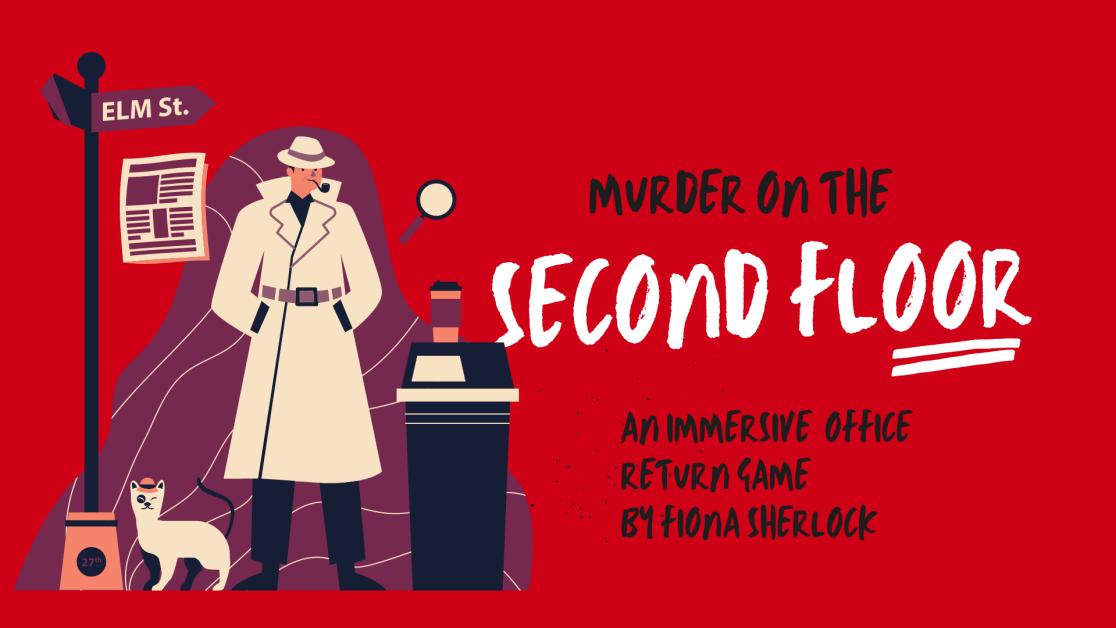 murder on the send floor by Fiona Sherlock. Interactive return to work game