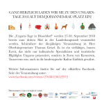 Ungarn-Tage Düsseldorf Flyer Seite 2