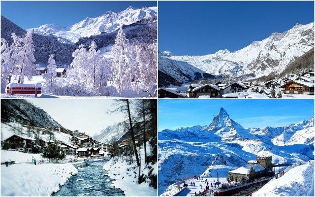 Hai khu nghỉ dưỡng trượt tuyết tuyệt đẹp Saas-Fee và Zermatt du học Thụy Sỹ