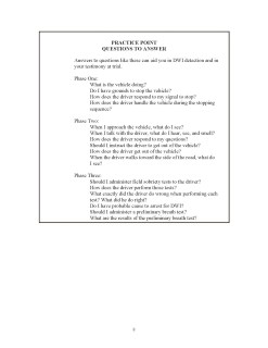 DUI Testimony Manual
