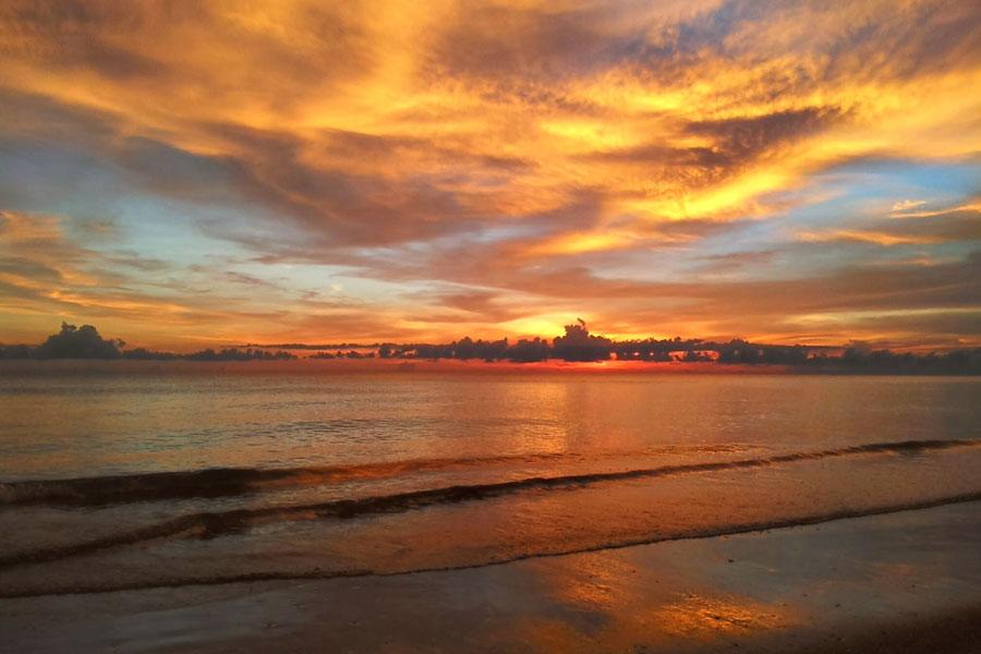 Casey Enjoys Tampa Bay Beach Sunset