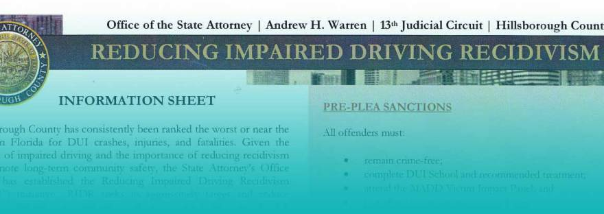 First-Time DUI Diversion RIDR