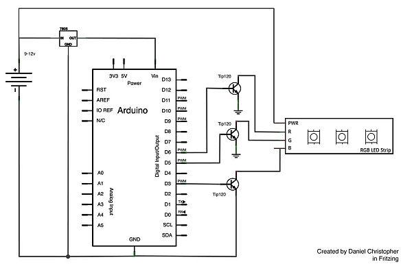 smd led strip wiring