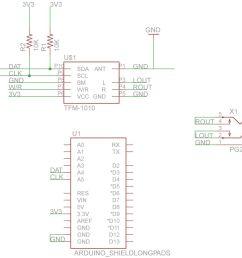 schematic arduino fm radio receiver shield [ 1024 x 940 Pixel ]