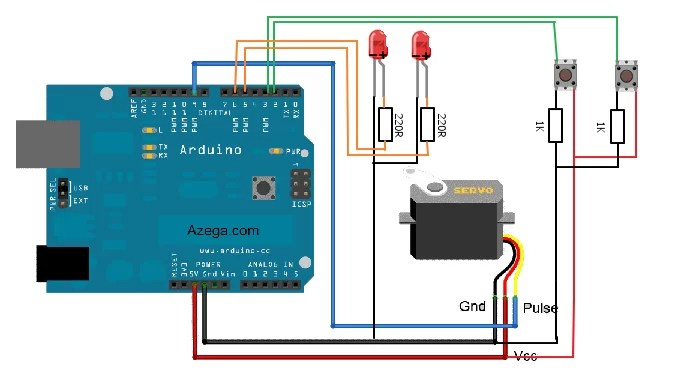 Analog Joystick Wiring Diagram How To Control A Servo Using Arduino Use Arduino For Projects